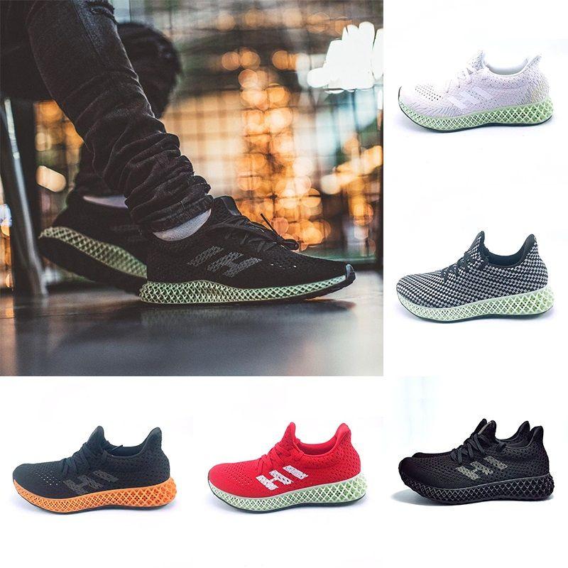 f676d39bf Adidas 2019 Futurecraft 4D Runner Running Shoes Para Hombres Mujeres Ash  Green Triple Negro Blanco Rojo Para Hombre Diseñador Sport Athletic Sneaker  Tamaño ...