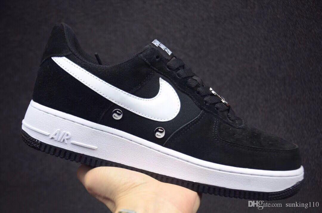 d4c69f379d Compre Nike Air Force 1 One Barato 1 Utility Classic Black White Dunk  Hombres Mujeres Casual Shoes Red One Sports Skateboard High Low Cut Wheat  Entrenadores ...