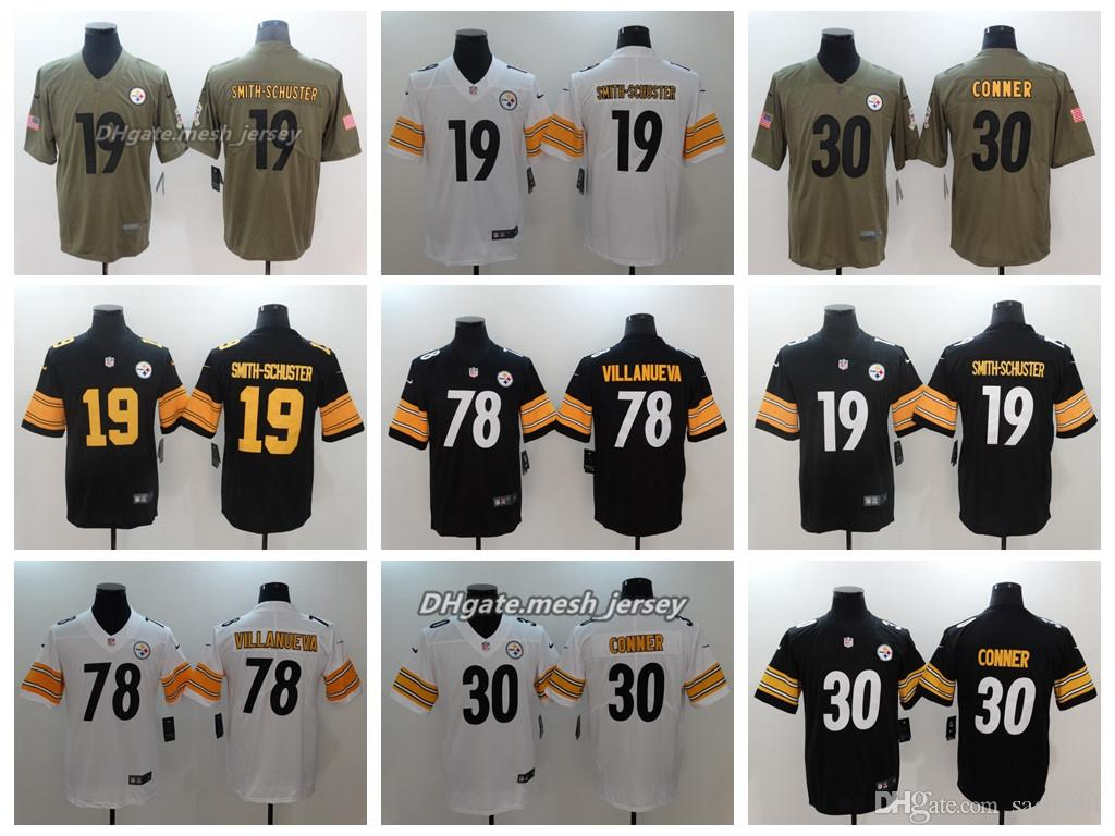 d0b96109e 2019 Men Pittsburgh Jersey Steelers 19 JuJu Smith Schuster 78 Alejandro  Villanueva 30 James Conner Color Rush Football Stitching Jerseys From  Top 07