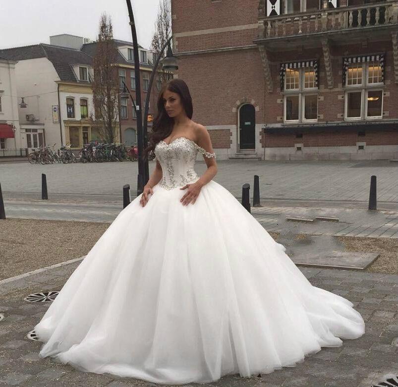 compre 2019 blusa de cristal vestidos de novia princesa vestido de