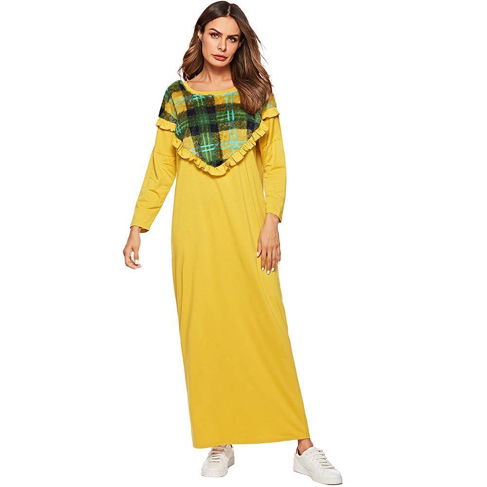 f8f65958e909 Middle East Abaya Cotton Maxi Dress Muslim Loose Style Long Robe Summer  Burka Kaftan Hijab Islamic Arab JS7475 Online with  36.93 Piece on  Dujotree s Store ...