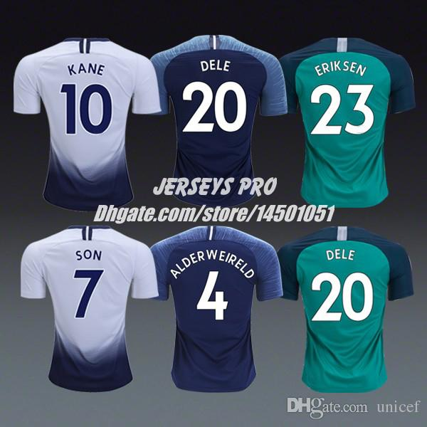 best authentic 7e764 2b34d Thai 2018/19 Soccer Jersey Spurs Shirt Green navy Trippier Danny Rose Son  Heung Min Harry Kane Erik Lamela Christian Eriksen Dele Alli Lucas