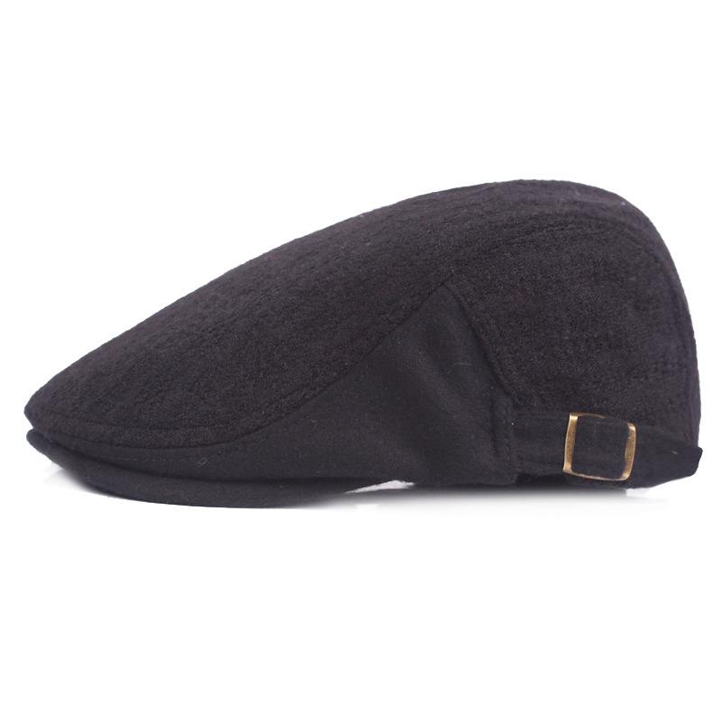 331068f4f1b7c Winter Beret Cap for Men Duck Tongue Cap Autumn Winter Thickened Warm front  Hat Middle-aged And Old Hat for Men Hats Scarves Gloves Hats Caps Berets  Online ...