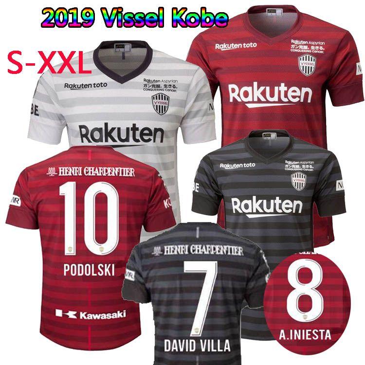 017ef4d65aa 2019 Japan J.League 2019 Vissel Kobe Soccer Jersey Home Away Third 19 20  A.INIESTA PODOLSKI DAVID VILLA Football Shirts Top Quality Customize From  ...