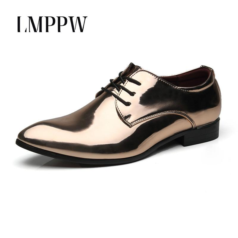 bc04c63b8b2 Fashion Men Shiny Patent Leather Derby Shoes Male Soft Leather Wedding  Oxford Shoes Gold Blue Red Men Flats Prom 2A Mens Shoes Loafers From  Chengdaphone009