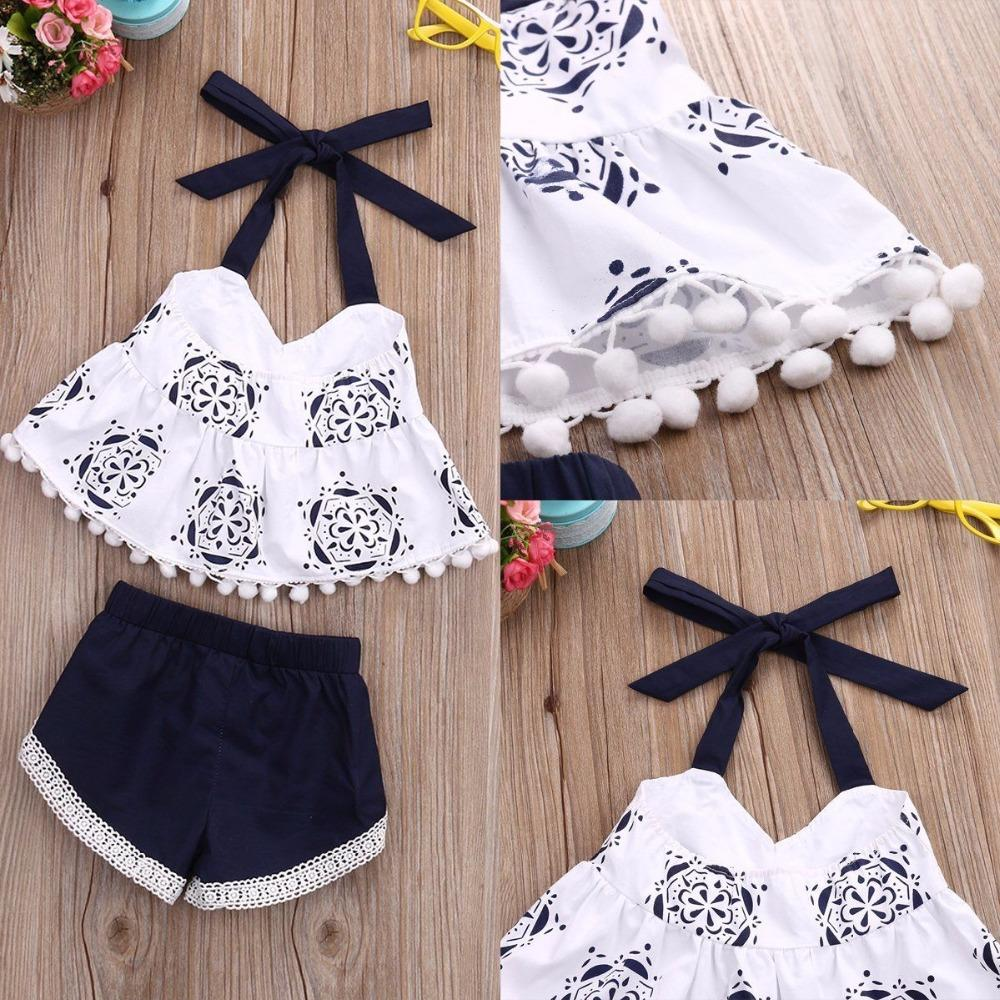 Mother & Kids 2019 New Style 2pcs Lovely Newborn Baby Girls Lace Ruffles Tops Dress Linen Shorts Briefs Outfit Clothes Set Girls' Baby Clothing