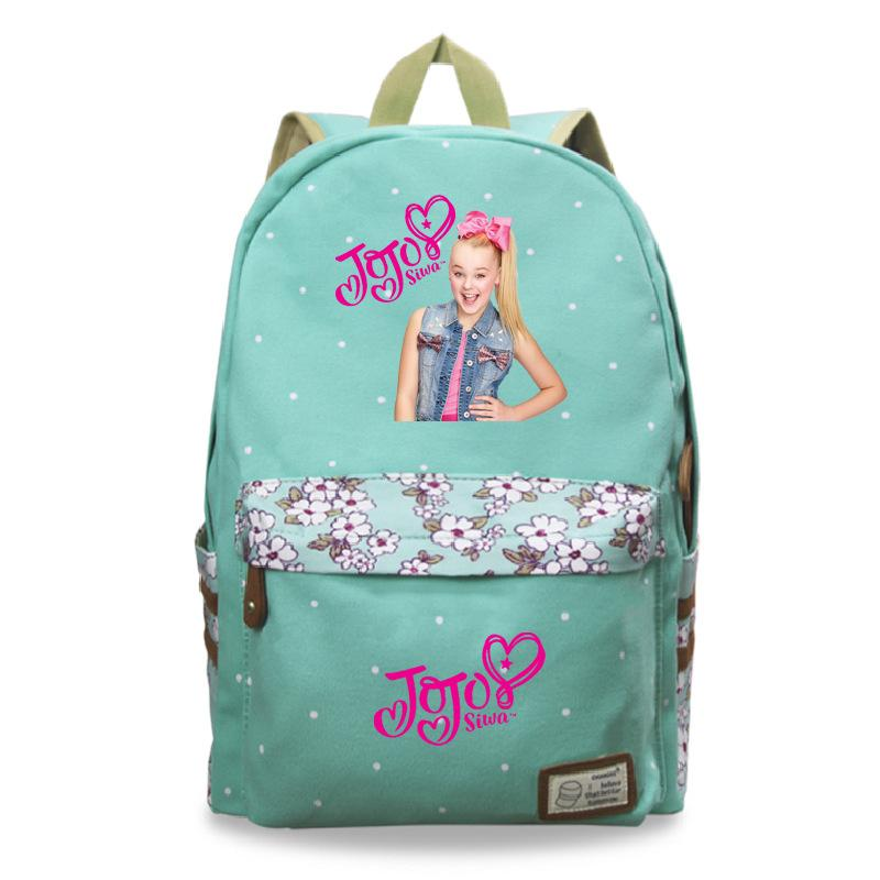 b05d092fbe Beautiful Jojo Siwa Backpack Children Boys Girls School Bag Fashion Popular  Pattern Backpack Men Women Travel Mesh Backpack Justice Backpacks From ...
