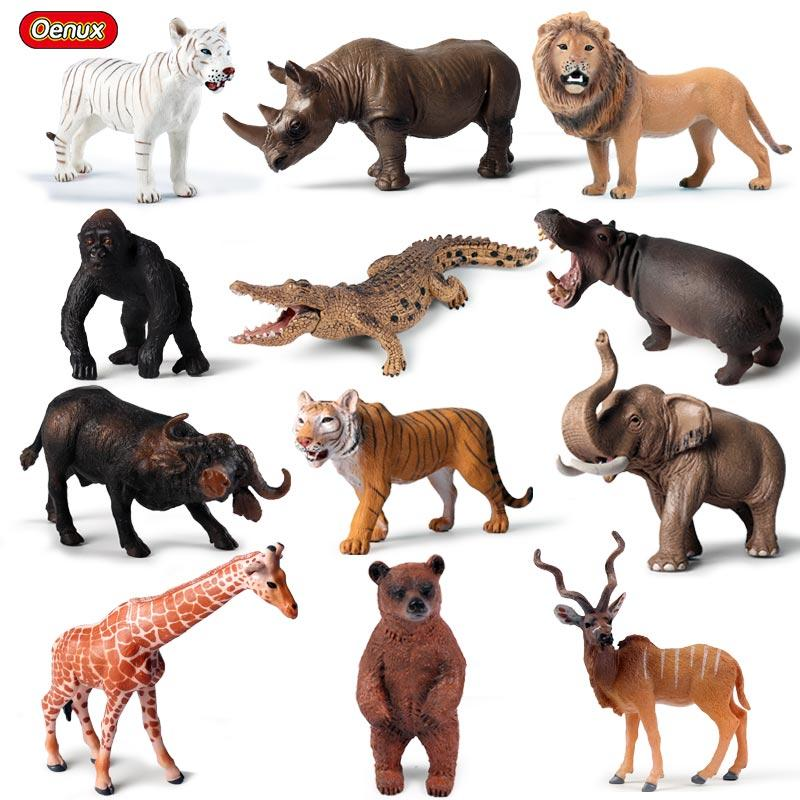 oys Hobbies Action Toy Figures Oenux Classic African Animals Elk Model Action Figures Crab Wild Crocodile Animal Figurine Giraffe Educati...