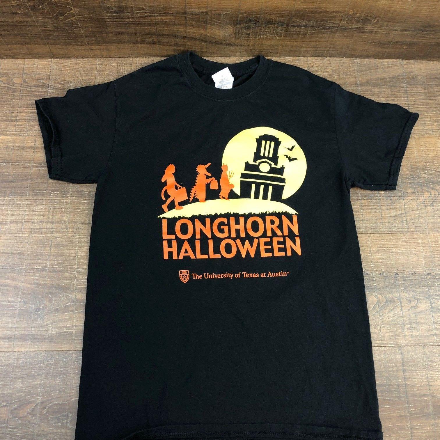 b1af745857a9c2 Longhorn Halloween Men's T-Shirt 386-9 University of Texas at Austin Black  Small Men's Clothing T-Shirts Short Sleeve Male