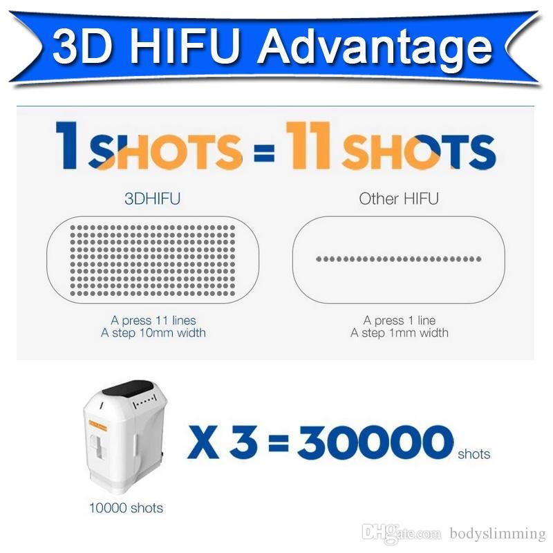 2 IN 1 3D HIFU Falten entfernen Gesichts-Anti-Aging-Liposonix Körper schlank Schönheit Ausrüstung Zwei Touch-Screen kann zur gleichen Zeit arbeiten