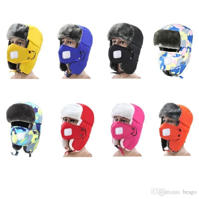 Children Windproof Dustproof Breathable Elastic Soft Ushanka Warm Helmet  Cap Plus Velvet Thick Winter Wool Kids Hat DH0535 1 Kids Party Favors Kids  Party ... 1385b891a0f