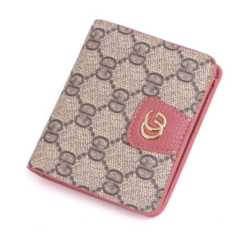 2019 New Fashion Mens Womens Pu Leather Wallets Ladies Classic Letter Pattern Printed Clutch Money Bags Girls Retro Hasp Card Bag