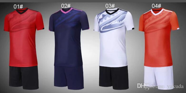 Customized Soccer Team 2019 new Soccer Jerseys Sets,wholesale Tops With Shorts,Training Jersey Short,Custom Team Jerseys,football uniforms