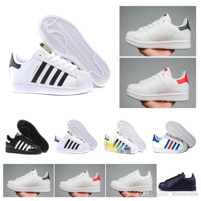 fcdcfea77dfb5 Scarpe Ballerine Hot Superstar Stan Smith Ologramma Originale Iridescent  Junior Raf Oro Simons Superstars Sneakers Super Star Donna Uomo Sportivo  Scarpe ...
