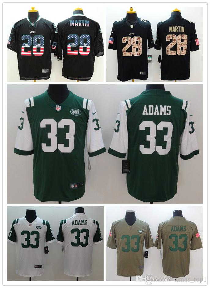 ... spain 2019 mens 33 jamal adams jersey new york jets football jersey 100  stitched embroidery jets 20fe05a27