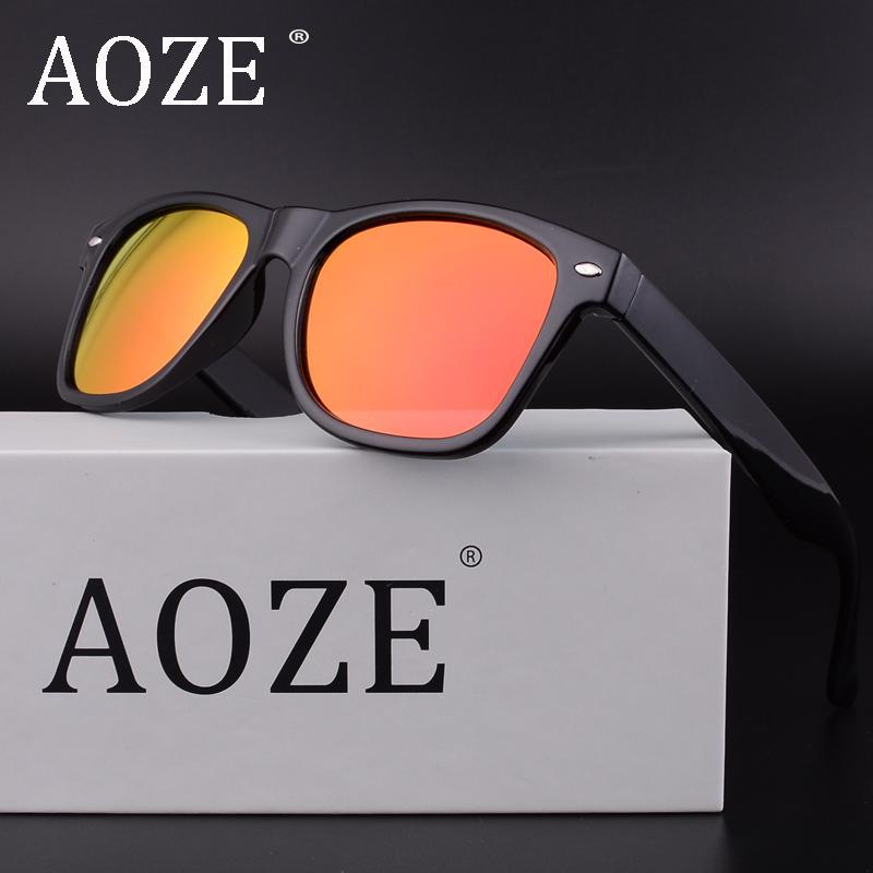 7157221072 Compre AOZE 2018 Hombres Mujeres Gafas De Sol UV400 Diseñador Polarizado  Moda Espejo Retro Vintage Conducción Marca De Alta Calidad Gafas De Sol  2140 A ...