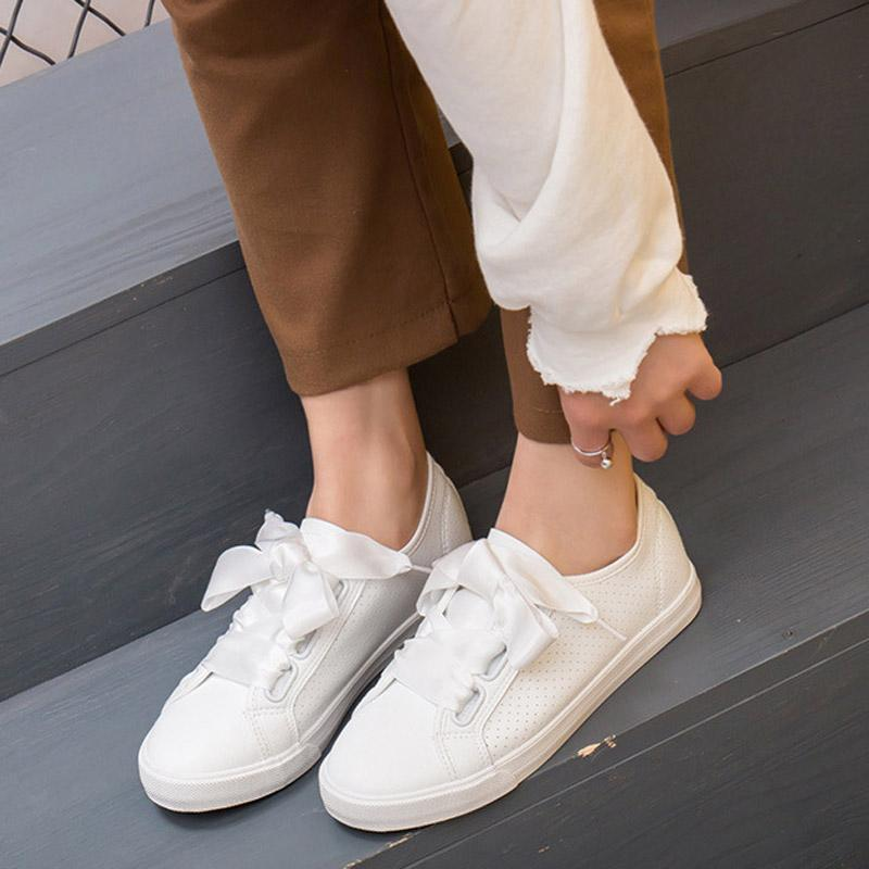 SAILING LU Spring Autumn Solid Lace Up Flats 2019 Fashion Women Casual Shoes Round Toe Shoes Comfortable And Breathable XWD7288