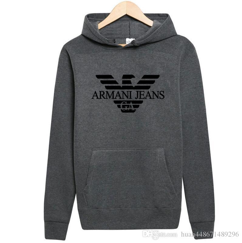 2019 2018 Armani New Street Hoodie Men Women Fashion Hoodie Hooded  Sweatshirt Hip Hop Hood Sweatshirt Mens Hoodie Cotton Blend From  Huan448671489296, ... fefeb654c6f