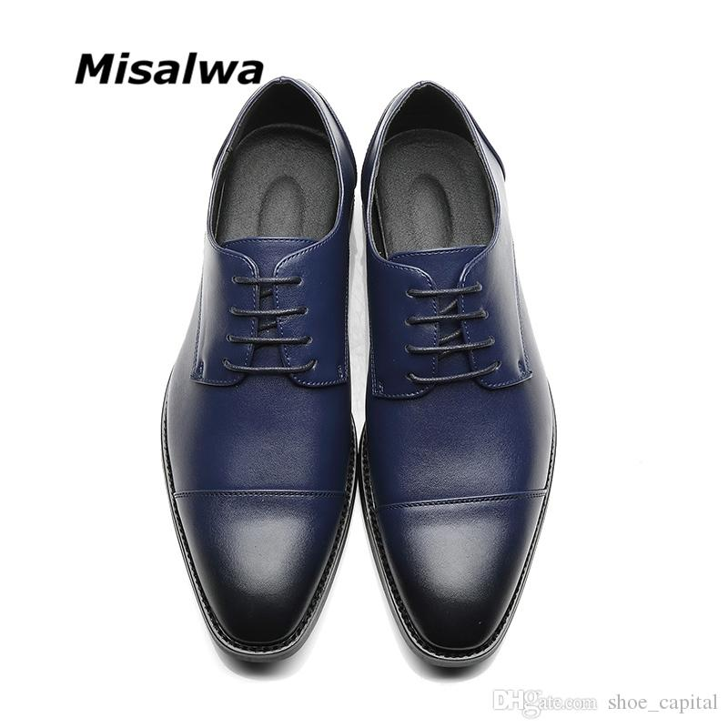 37f2fe48b02 Compre Misalwa Brand Men Simple Ligero Hombres Zapatos Derby ...
