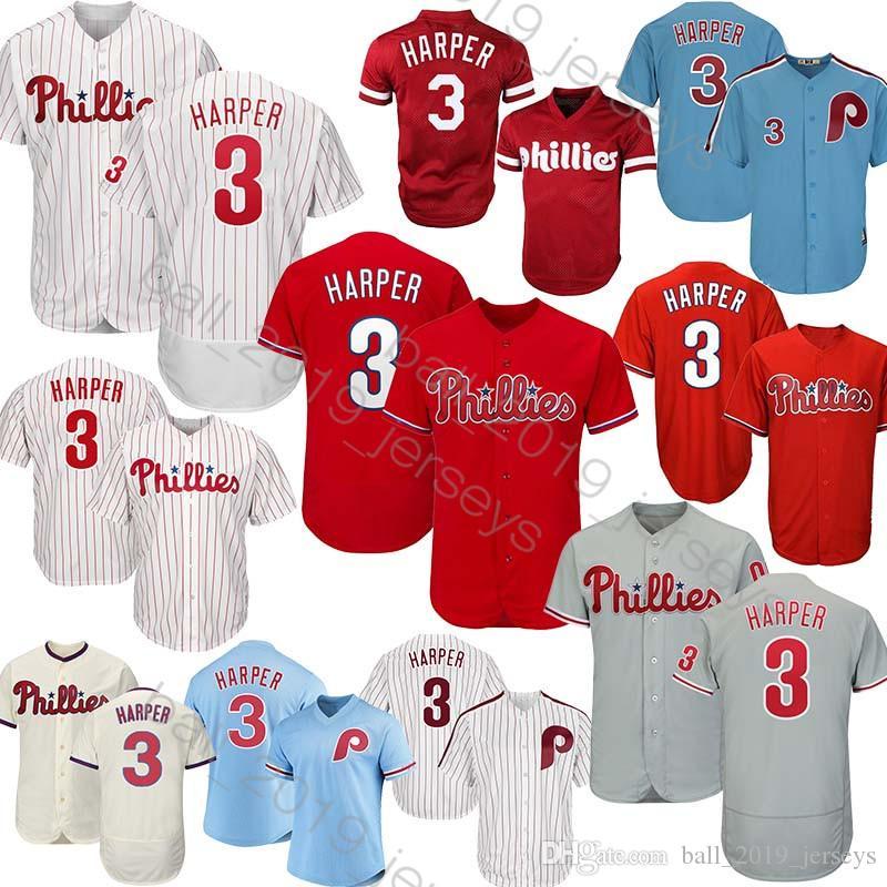 buy popular 3f7bc 128e5 3 Bryce Harper jersey Philadelphia jersey 7 Franco 10 Daulton 99 Williams  150th anniversary patch Baseball Jerseys