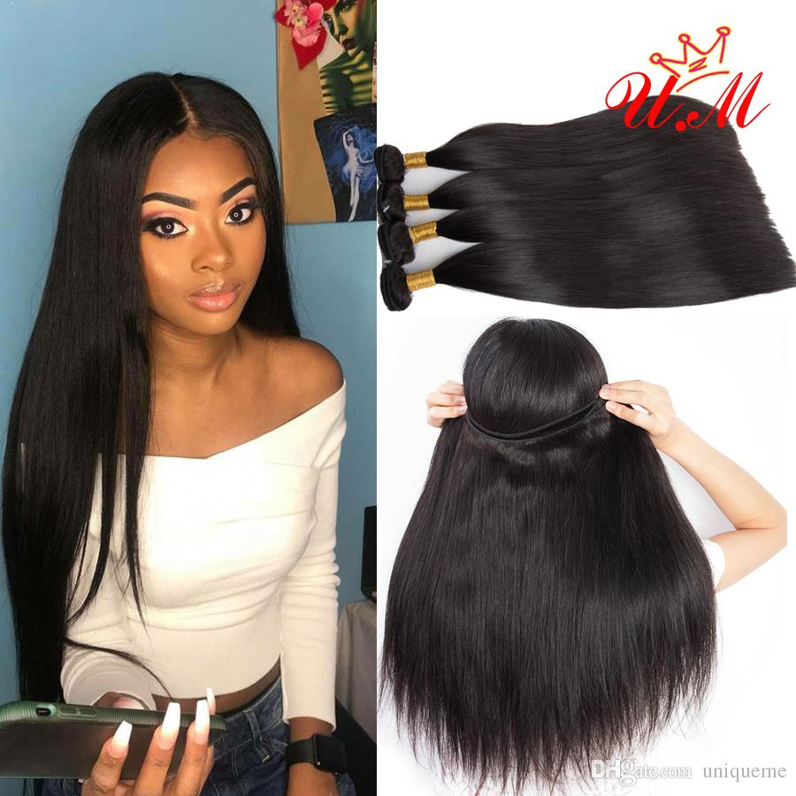 Indian Virgin Human Hair Straight Extensions