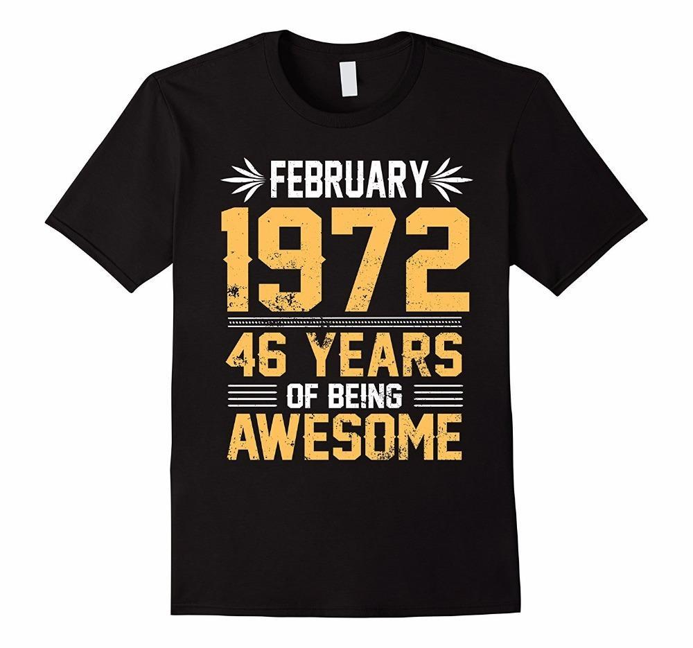 Bulk T Shirts Legends Born In February 1972 46 Yrs Years Old Being