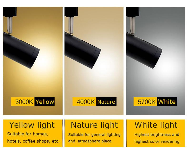 10w led iluminación de pista negro blanco moderno cob casa proyector luz de pista lámpara de pared lámpara para ropa zapatería tienda de exposición tienda