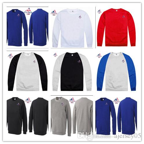 New club JAM USA GBR national team plus velvet thick round neck sweater outdoor clothing