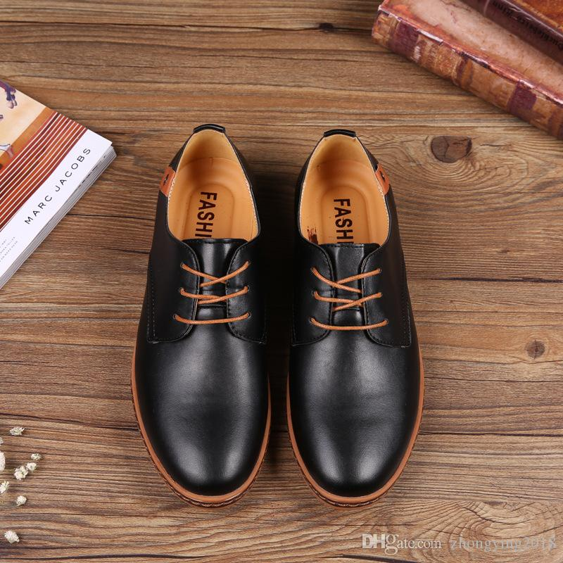 Lace-up Big size man footwear mens casual shoes fashionable men dress shoes office cowmusle sole men oxford shoes low price JI10