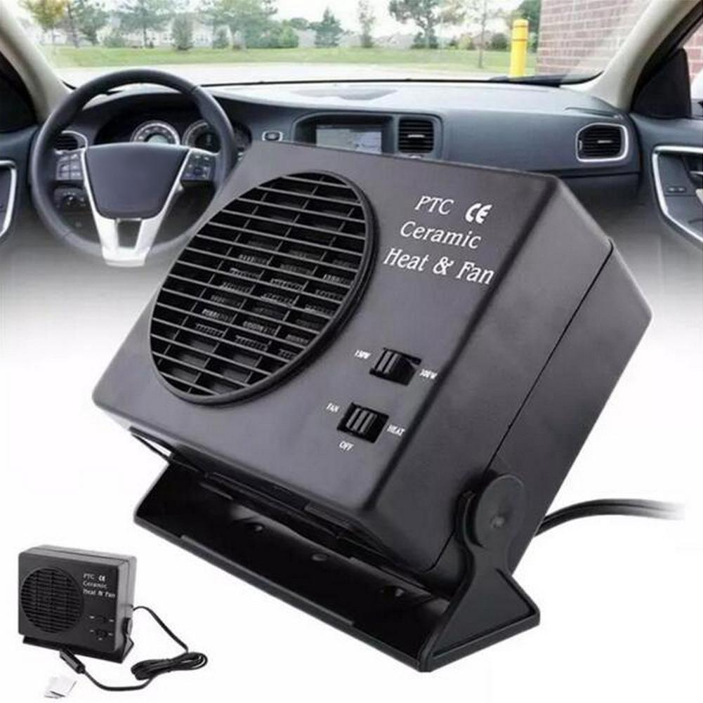 300w Car Portable Ceramic Heating Cooling Heater Fan Defroster Demister Dc 12v 12-volt Portable Appliances Air Intake Systems
