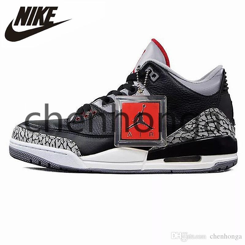 premium selection 78de8 202b6 2019 Nike AIR JORDAN 3 RETRO '88 AJ3 OG Joe III Men Women Basketball Shoes  Black White Cement Airs Jordans Breathable 3s Sneakers Trainers 580775