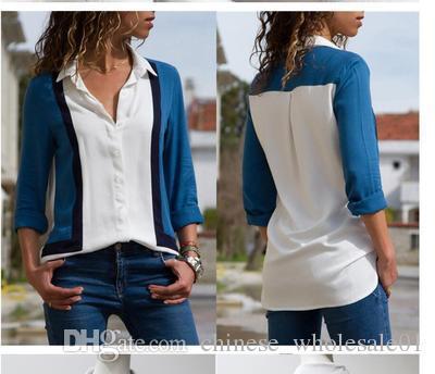 b778f7f2d7d2 Compre Inicio Ropa Mujer Blusas 2019 Moda Camisa De Manga Larga Camisa De  Oficina Camisa Blusa De Gasa Casual Tops Tallas Grandes A $9.37 Del ...