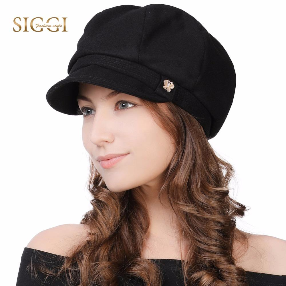 192f6003 FANCET Womens Newsboy Caps Soft Satin Lined Visor Berets Cabbie Caps ...