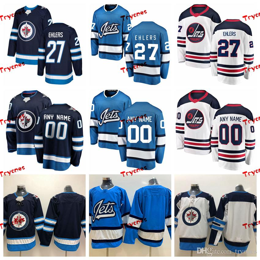 best service 90c15 b79bd 2019 Nikolaj Ehlers Winnipeg Jets Heritage White Jerseys Mens Customize New  Alternate Shirts 27 Nikolaj Ehlers Hockey Jerseys S-XXXL