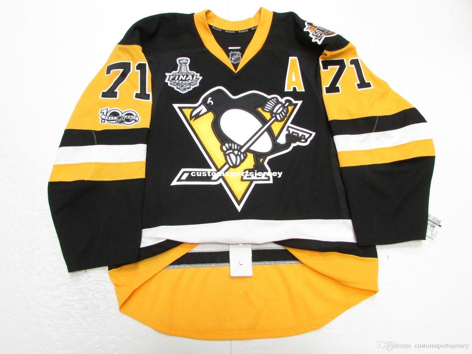the best attitude 389a7 5064a Cheap custom MALKIN PITTSBURGH PENGUINS HOME 2017 STANLEY CUP JERSEY stitch  add any number any name Mens Hockey Jersey XS-5XL