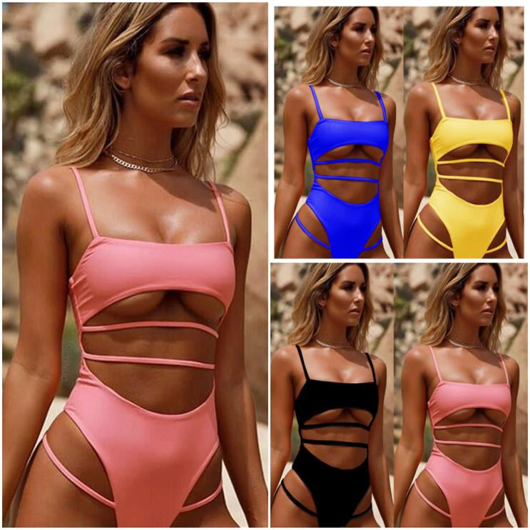 8bf6205325dbd Bikini Nylon Sexy Backless Swimsuit One Piece Woman Bathing Suits ...