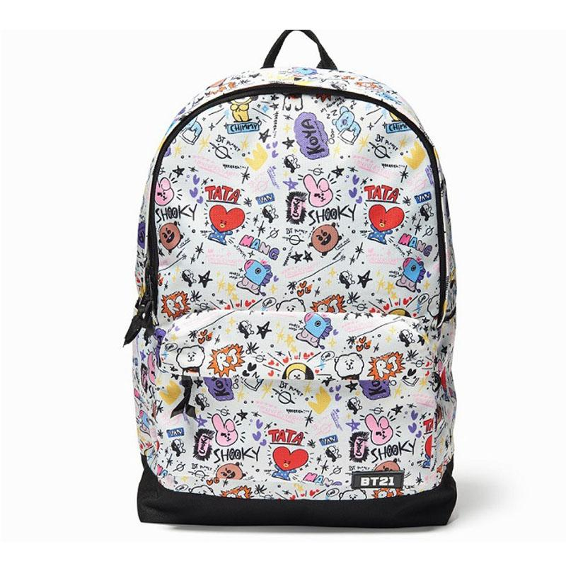 Bt21 Signature Backpack Bts Character Graphic