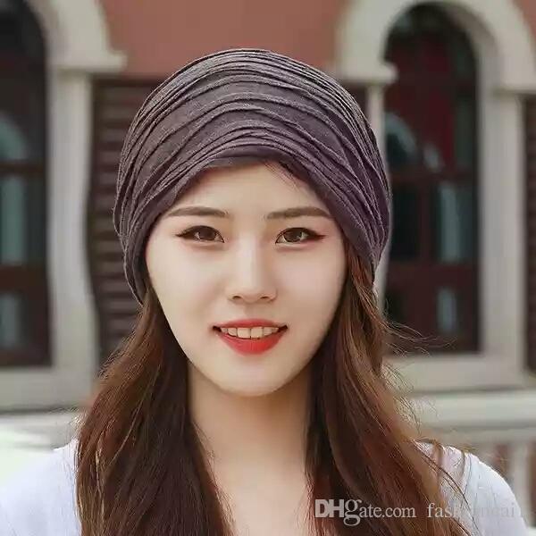 b4040eb2cf290 Hat Men And Women Korean Version Of The Tide Big Pier Towel Hat Piled Up Bald  Hat Korea Set Head Baotou Month Cap Baseball Cap Slouchy Beanie From ...