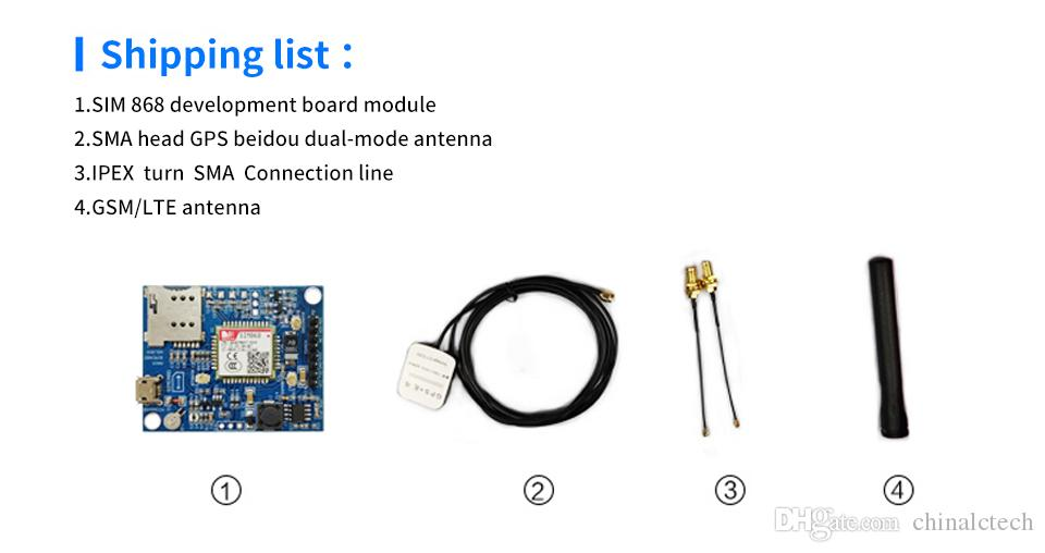 SIM868 DEVELOPMENT BOARD GSM / GPRS / BLUETOOTH модуль / GPS