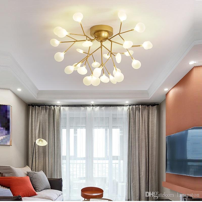 Modern LED multi leaf lights Ceiling Chandelier Lighting Living Room  Bedroom Chandeliers Creative Home Lighting Fixtures AC110V/220V11