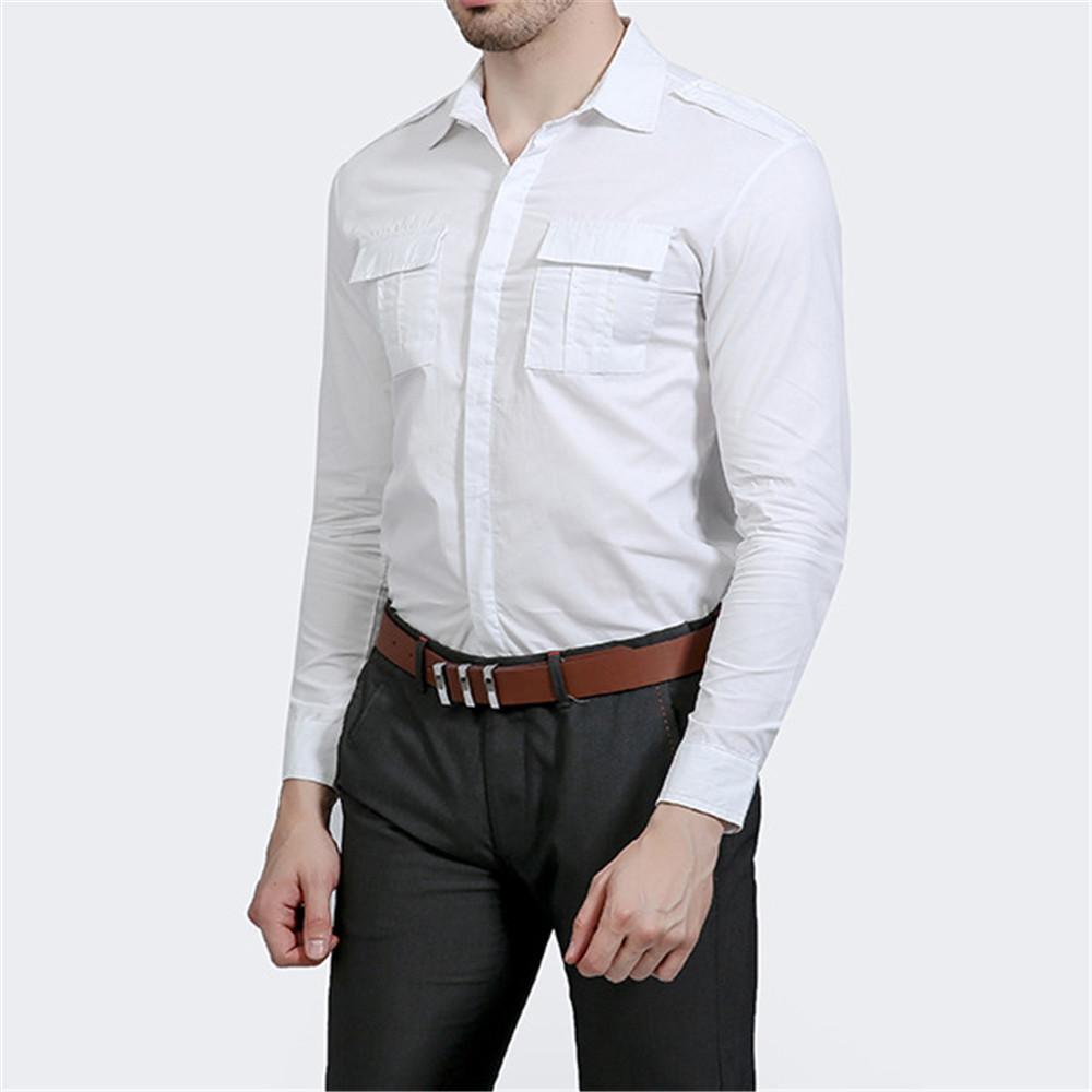 ba6f2df233 Compre Casual Camisa Blanca De Los Hombres Del Partido Elegante Blusa De  Primavera Para Hombre Harajuku Novedad Streetwear 2019 Punk Rock Camisas  Club Cena ...