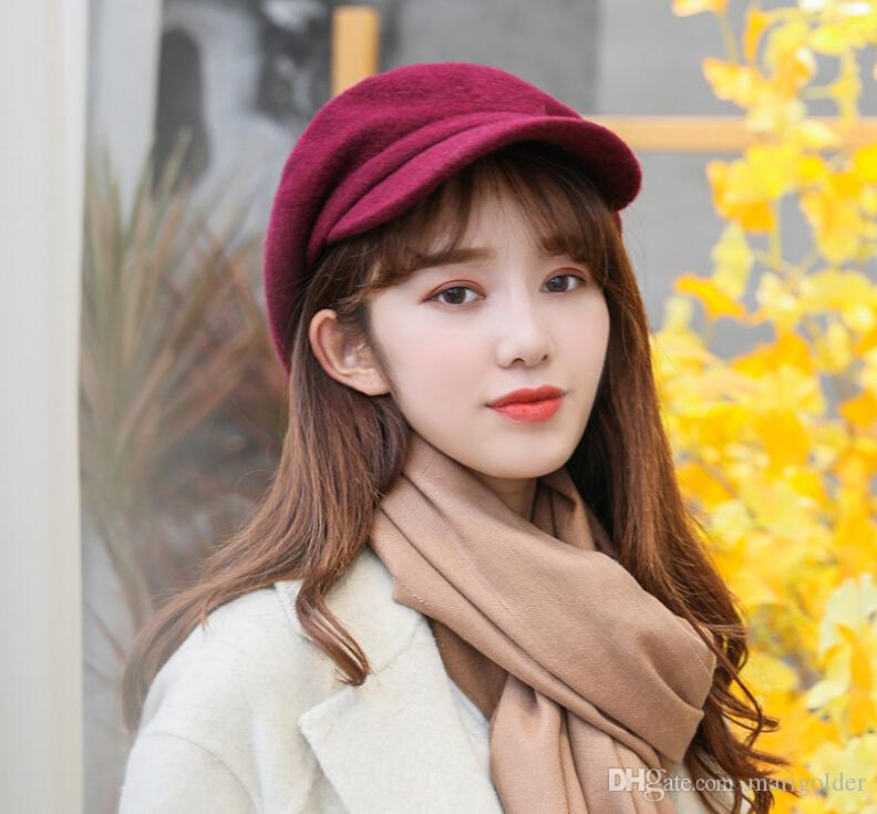 2019 Outdoor Hats Women S Autumn And Winter New Fashion Duck Tongue Outdoor  Wool Beret Wholesale From Marigolder b128e5638a1