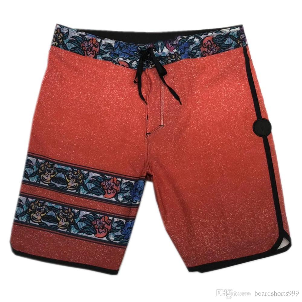 65ebbf0631eb5 2019 Quick Dry 4Way Stretch Boardshorts Mens Swim Trunks Elastane Spandex  Beachshorts Black Surf Pants Board Shorts Male Fashion Bermuda Shorts From  ...