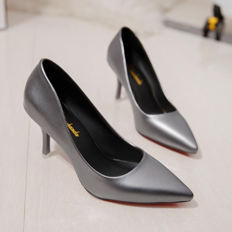 Dress Shoes Women's Pumps High Heels Slip-on New Luxury Red Party Dress Wedding Ladies Elegant Sexy Classic Europe Shine Design