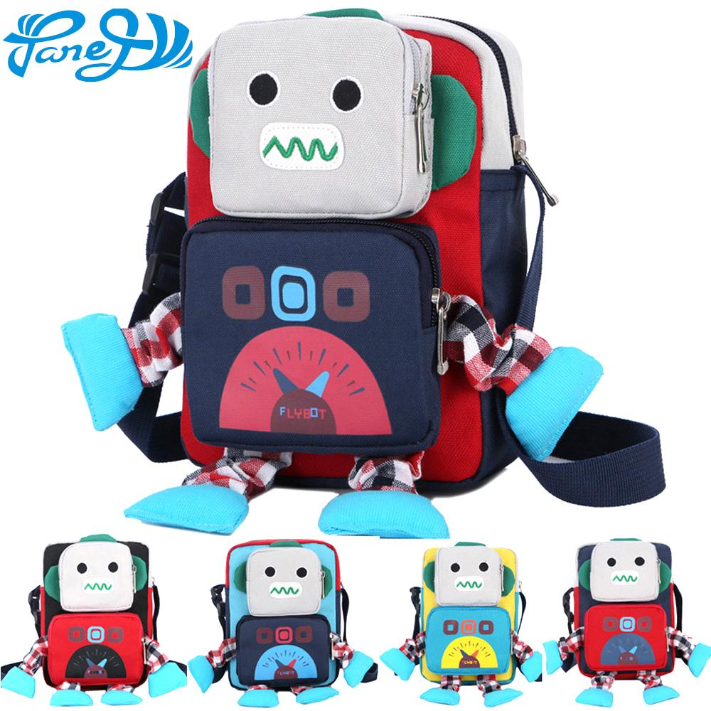 Panegy Cute Cartoon Robot Kindergarten Backpack For Boys And Girls 1 5 Year  Old School Bags Lovely Satchel Knapsack Baby Bags One Strap Backpack  Backpacking ... 1dd0a09ddb74