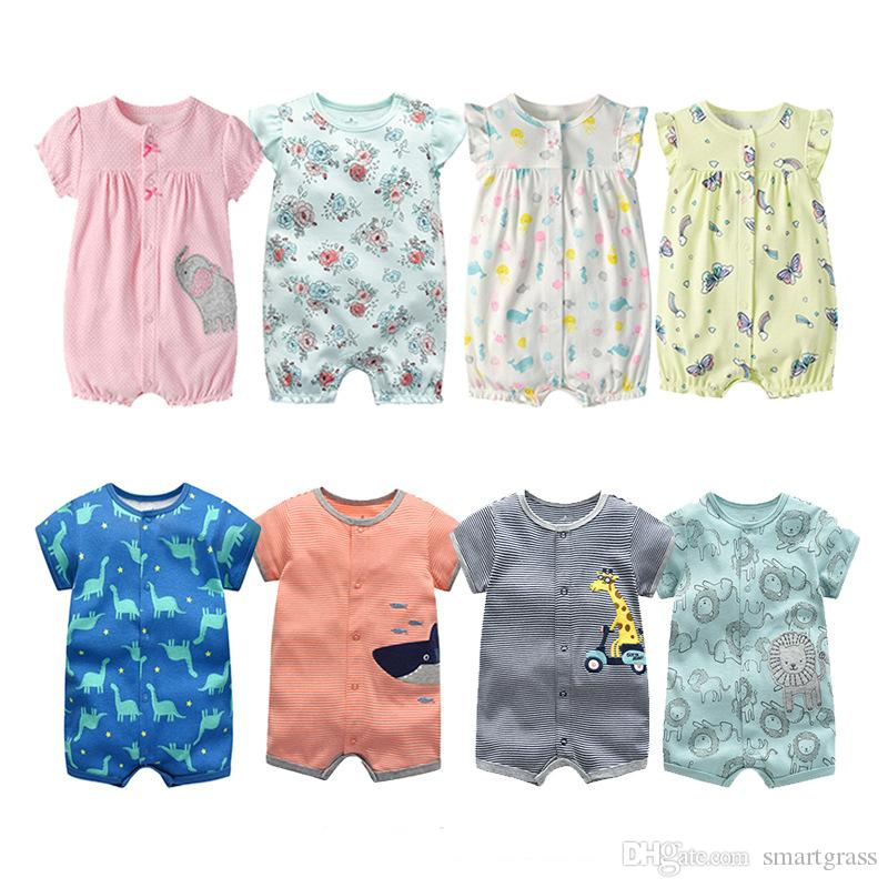 6d60cebc3f48 2019 Cute Baby Rompers Short Sleeve 100 Cotton Summer Baby Clothes ...