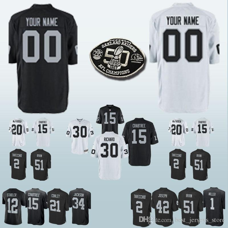 check out 13101 3f510 30 Jalen Richard 15 Michael Crabtree Oakland jerseys Raider 32 Marcus Allen  7 Marquette King Can be customized jersey
