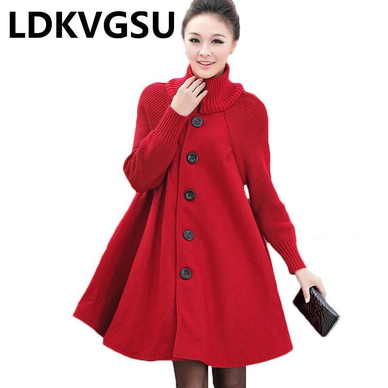 Satın Al Kış Ceket Kadınlar Sıcak Kalın Pelerin Palto Balıkçı Yaka Kadın  Giysileri 2019 Kadın Giyim Siyah Kırmızı Gri Rüzgarlık Is1543 7643fad6aec