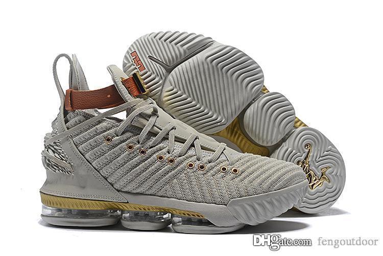 Lebron 16 Mens Basketball Shoes James 16 The Fresh Bred Triple Black