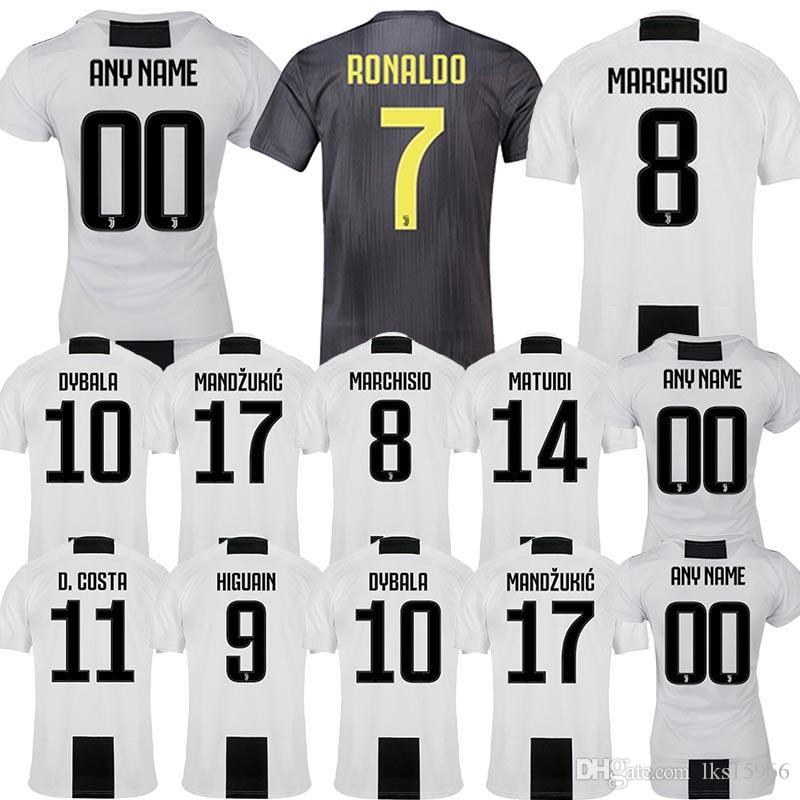 online store 13ea8 66f46 Soccer Jerseys Juventus 7 Cuadrado 9 Higuain 10 Dybala 11D. Costa 17  Mandzukic High quality jerseys customizable